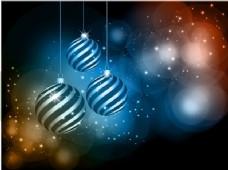 明亮多彩的圣诞球背景