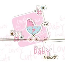 童趣婴儿卡片 粉色童趣卡片图片