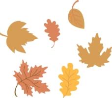 手绘树叶图片