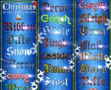 圣诞节装饰艺术字PS样式V1