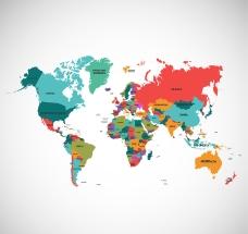 精美彩色世界地图