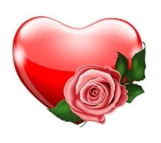 红色爱心元素