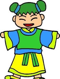 漫画儿童 卡通人物 矢量 AI_0041