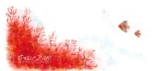 水彩素描花饰底纹背景图片