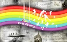 彩虹背景图