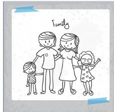 家庭矢量绘画图片