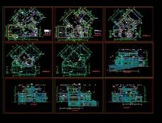 北京某经典别墅全套施工图CAD图纸