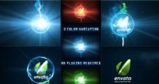 能量绚丽logo演绎动画AE模板
