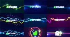 绚丽光线线条logo演绎动画AE模板