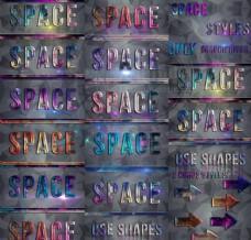 唯美的星空图案艺术字样式