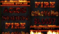 超酷的火焰和流血字体样式
