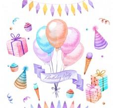 生日派对元素图片