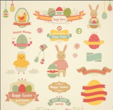 可爱 儿童 兔子 温馨 复活节图片