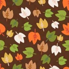 通彩色树叶背景矢量素材树叶