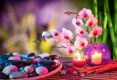 设计烛台花卉图片