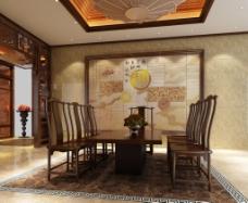 天时地利人和背景墙设计尚佳品革中式经典