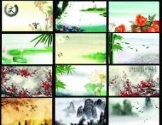 中国风名片背景图片