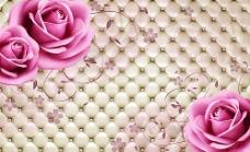 软包粉色玫瑰(?#29615;?#23618;)图片