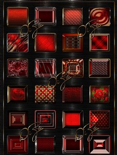 质感的红色金属样式