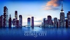 城市夜景海报