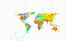 蝴蝶般的世界地图
