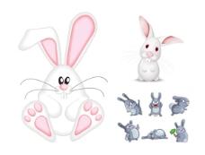 可爱的兔子矢量素材