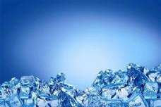 冰力十足的冰块背景分层模板