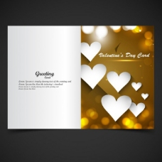 金色的情人卡在背景虚化的风格