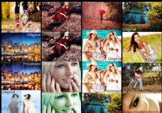 人像照片增加质感和对比对效果调色动作