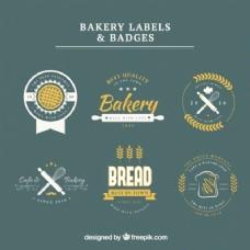 面包标签和徽章