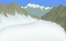 令人神往的雪域高原风景矢量素材