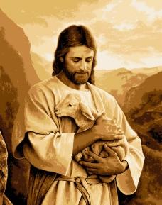 基督教耶稣抱羊救赎图片