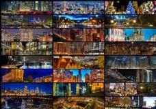 25张淘宝璀璨夜景广告背景图片素材