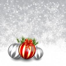 圣诞节装饰球白色背景