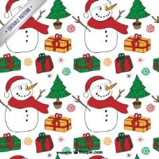 雪人的圣诞图案