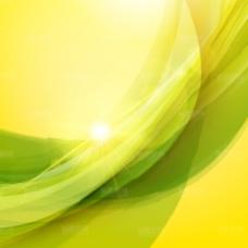 黄绿色炫彩光线光效背景