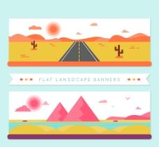 沙漠景观横幅