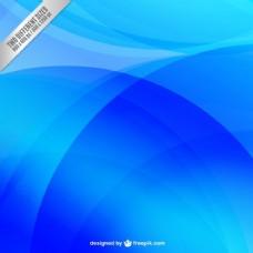 蓝色波浪背景的抽象风格