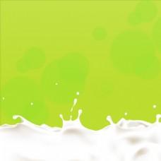 绿色牛奶主图背景