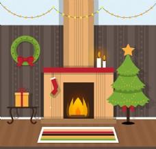 温暖圣诞客厅