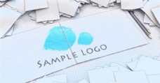 卡通画板logo演绎动画AE模板.