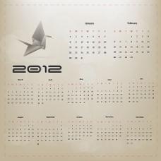 2012年历模板