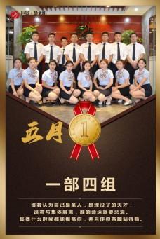 团队业绩展示海报
