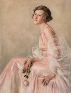 美女油画人物