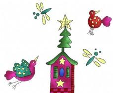 小鸟 动物昆虫 卡通漫画 分层 PSD_0004