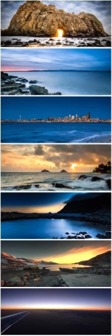 海边风景背景