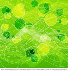 抽象的绿色圆圈背景图案