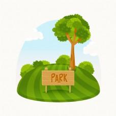 彩色公园素材背景