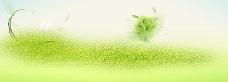 绿色清爽淘宝海报背景
