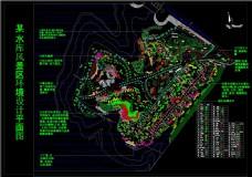 某水库风景区景观规划图CAD图纸
